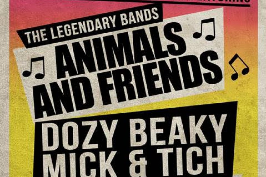 The Animals & Friends, Dozy, Beaky, Mick & Tich en de all star Creedence Clearwater Revival tribute